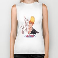 bleach Biker Tanks featuring Bleach poster by Tremblax1