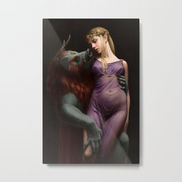 The Beast and The Princess Metal Print