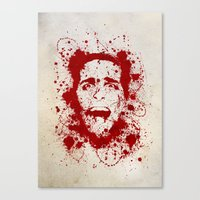 american psycho Canvas Prints featuring American Psycho by David