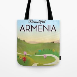 Armenia Travel poster. Tote Bag