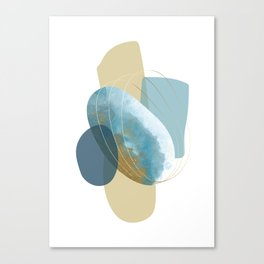 Still Life With Blue Stones Canvas Print