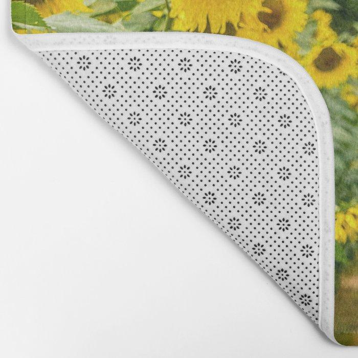 Follow the Yellow Flower Road Bath Mat