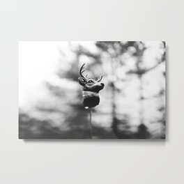 Dear Deer Head Metal Print