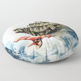"""The castle in the sky"" Floor Pillow"