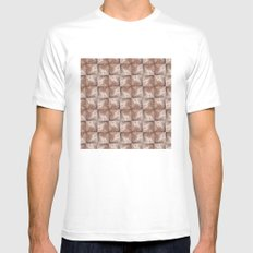 Wall Pattern Mens Fitted Tee MEDIUM White