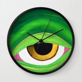 Shades of a friendly frog Wall Clock