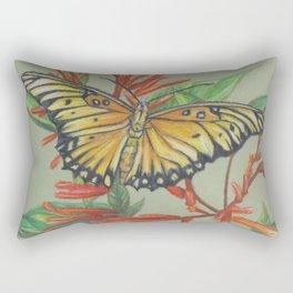 Gulf Fritillary Rectangular Pillow