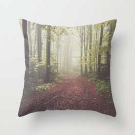 #autumn - Landscape and Nature Photography Throw Pillow