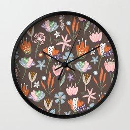 fall scandinavian design Wall Clock
