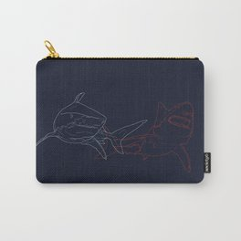 Blue and Red Sharks Carry-All Pouch