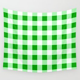 Green and White Buffalo Check - more colors Wall Tapestry