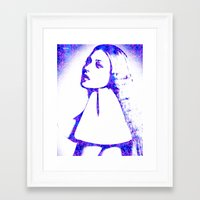 kate moss Framed Art Prints featuring Kate Moss by fashionistheonlycure