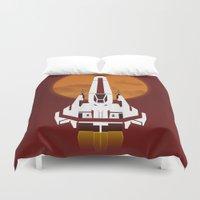 battlestar Duvet Covers featuring Battlestar Galactica Viper MK II by jake