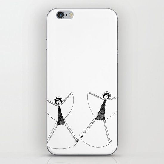 Snow angels iPhone & iPod Skin