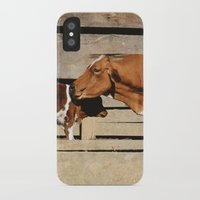 cows iPhone & iPod Cases featuring Cows by Ana Francisconi