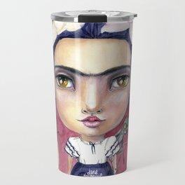 Little Frida by Jane Davenport Travel Mug