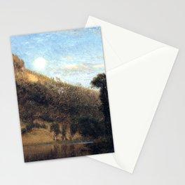 Aaron Draper Shattuck - Berkshire Foothills, Full Moon Over Meadowbrook (1864) Stationery Cards