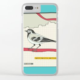 White Wagtail Clear iPhone Case