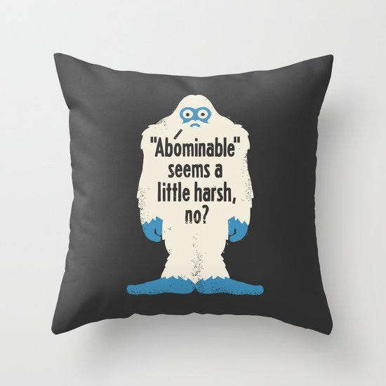 Not Cool Throw Pillow