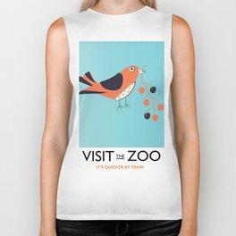 visit the zoo bird Biker Tank