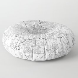 Austin White Map Floor Pillow