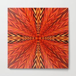 Hypnotic in Copper Metal Print