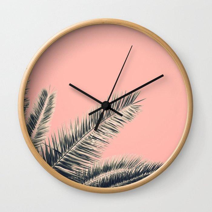 Retro Style Palm Tree Wall Clock