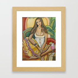 Moroccan Happy Hour Framed Art Print