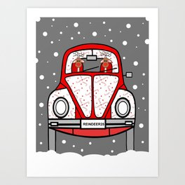 Sleigh Is In The Shop -Merry Christmas Art Print