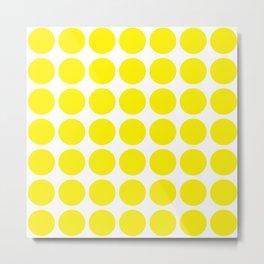 Yellow Spot Pattern Metal Print