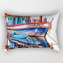 Thai fishing boat painting Rectangular Pillow