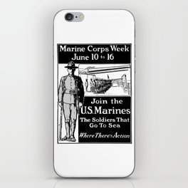 Join The U.S. Marines -- The Soldiers That Go To Sea iPhone Skin