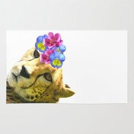 Cute Cheetah Portrait Rug