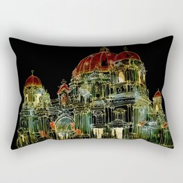Berlin Cathedral at Night Rectangular Pillow