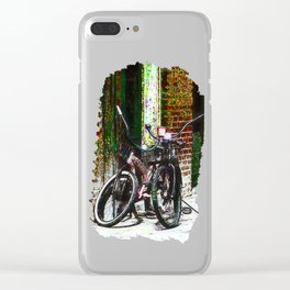 Two Bicycles In the Alley Clear iPhone Case