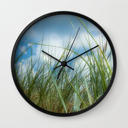 Dreaming in the grass pattern Wall Clock