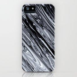 Black & White Striped Marble Print.jpg iPhone Case
