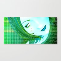 cyberpunk Canvas Prints featuring Cyberpunk by Sandra Höfer