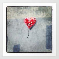 Banksy Mended Heart, Valentine Art Print