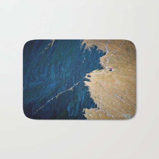 Yellow blue land Bath Mat