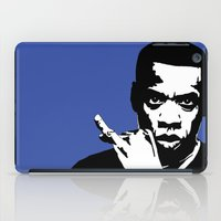 jay z iPad Cases featuring Jay Z by Gary Barling