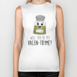 Will You Be My Valen-thyme? Biker Tank