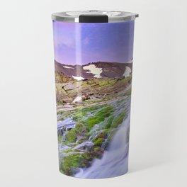 mountain river at 3000 meters high  Travel Mug