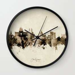 Galway Ireland Skyline Wall Clock