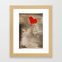 Girl with a Heart Framed Art Print