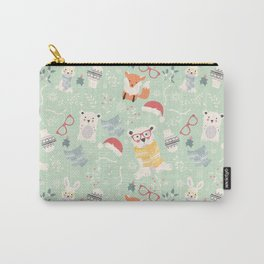Christmas polar animals pattern 002 Carry-All Pouch