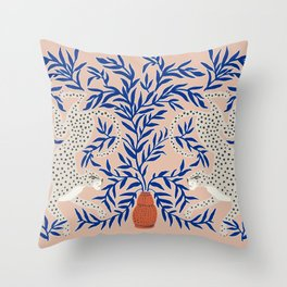 Leopard Vase Throw Pillow