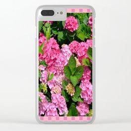 Pink Hydrangeas Clear iPhone Case