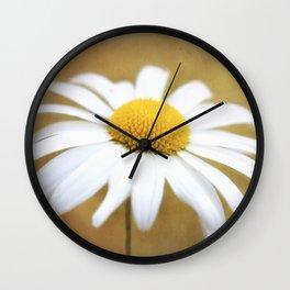 Golden Eyed Daisy Wall Clock