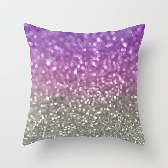 Lilac and Gray Throw Pillow by Lisa Argyropoulos Society6